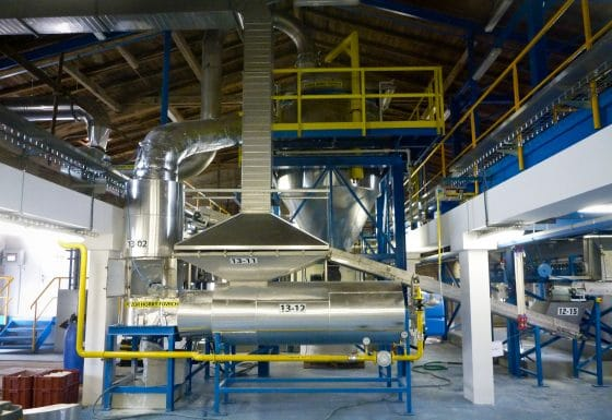 Drying system TiO2