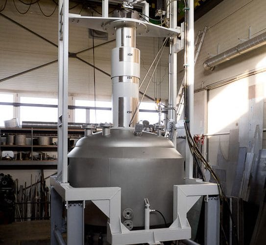 Procesní filtr 2500 L, 3 bar, 150°C