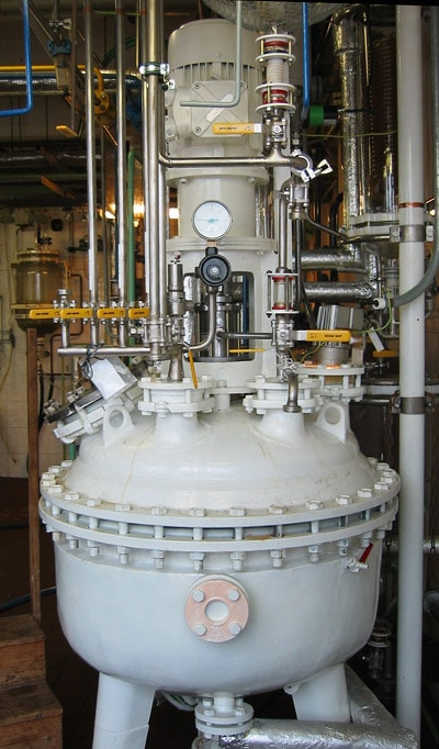 Enamel boiler to hydrogenation autoclave reconstruction