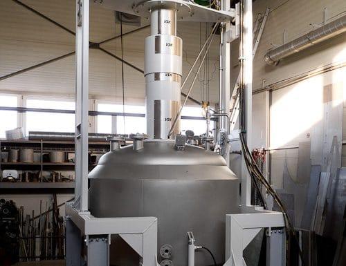 Vacuum filter-dryer 2500 L, 3 bar, 150°C